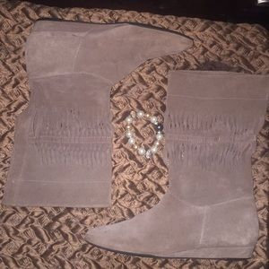 7 For All Mankind Light Tan Boots size 7.5
